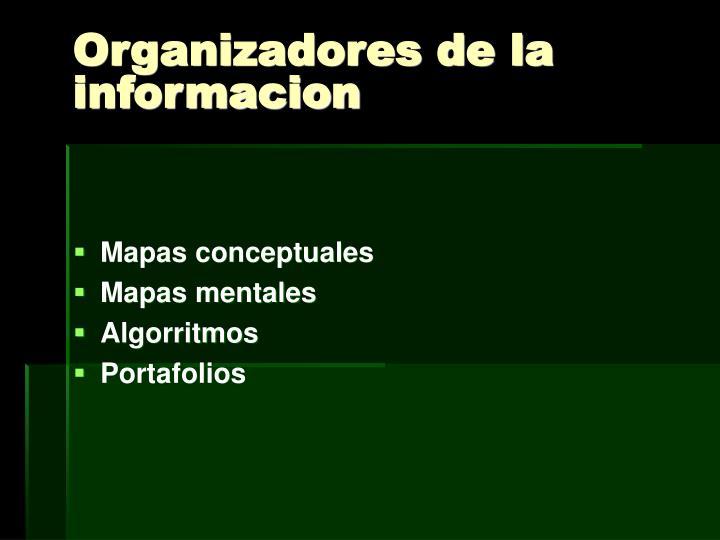 Organizadores de la informacion