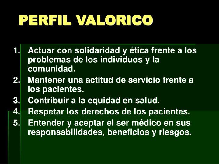 PERFIL VALORICO
