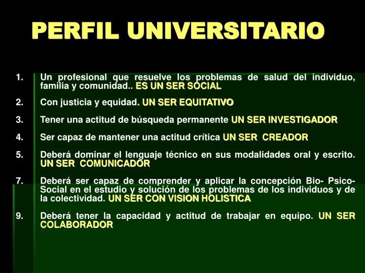 PERFIL UNIVERSITARIO