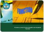 functions linear function equation and quadratic function