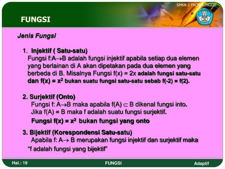Jenis Fungsi