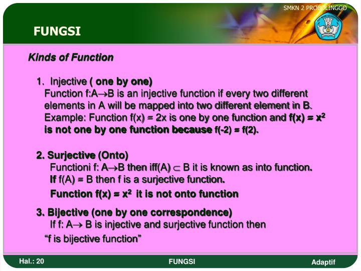 Kinds of Function