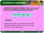 quadratic function7