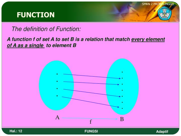 The definition of Function: