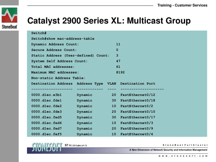 Catalyst 2900 Series XL: Multicast Group