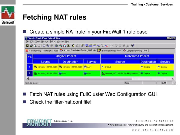 Fetching NAT rules