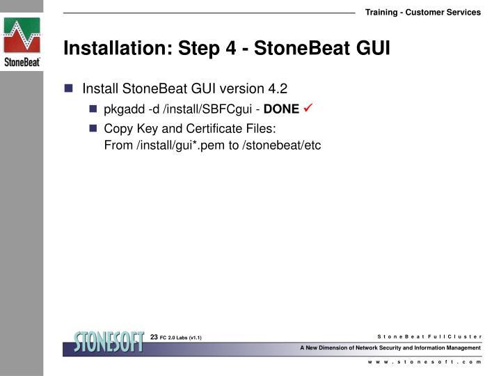 Installation: Step 4 - StoneBeat GUI