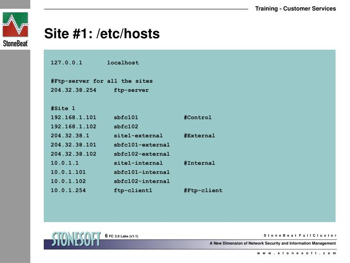 Site #1: /etc/hosts