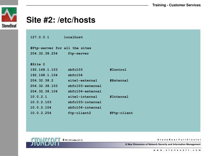 Site #2: /etc/hosts