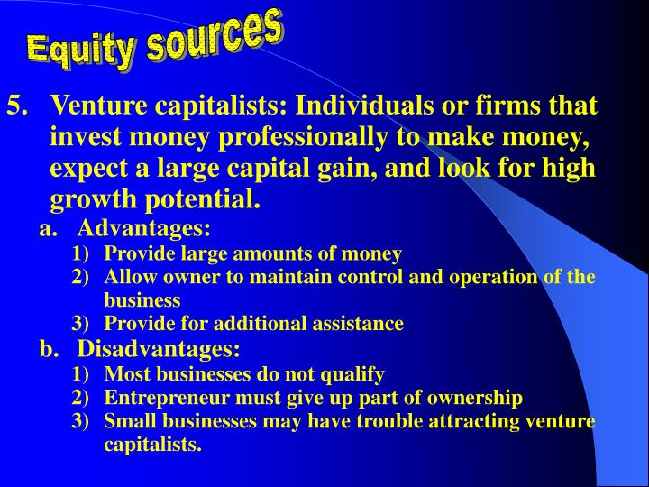Equity sources