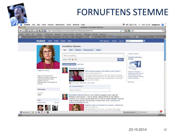 FORNUFTENS STEMME