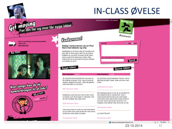 IN-CLASS ØVELSE