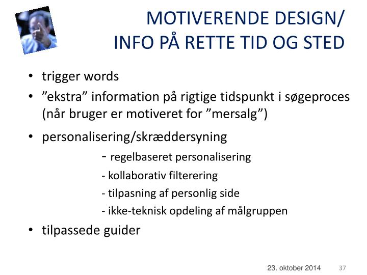 MOTIVERENDE DESIGN/