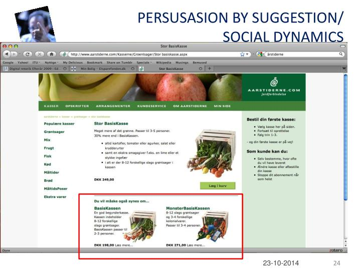 PERSUSASION BY SUGGESTION/