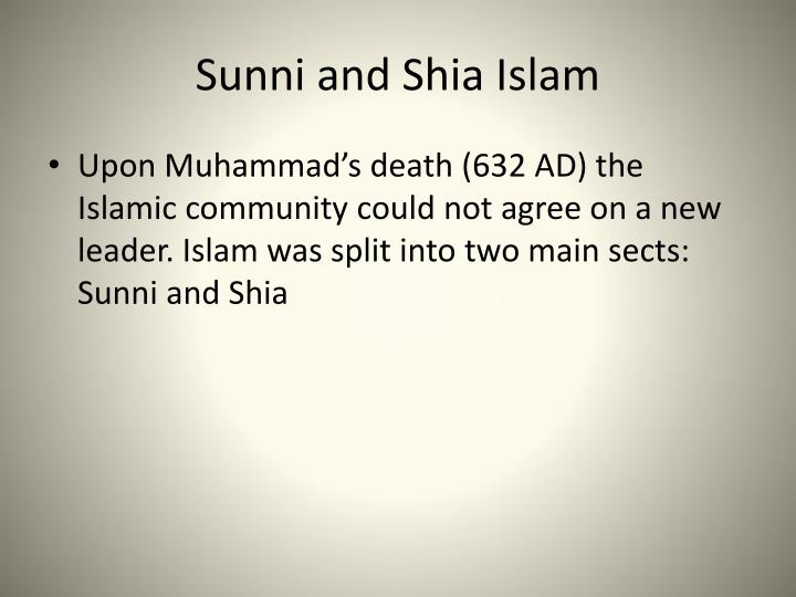 Sunni and Shia Islam