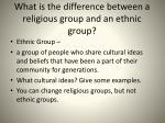 what is the difference between a religious group and an ethnic group1