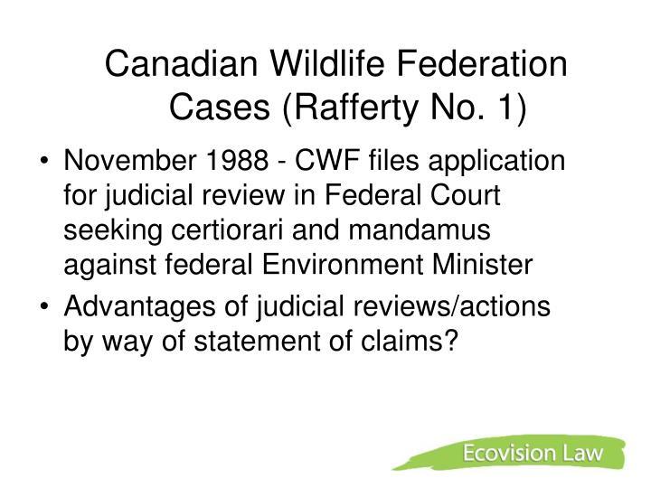 Canadian Wildlife Federation Cases (Rafferty No. 1)
