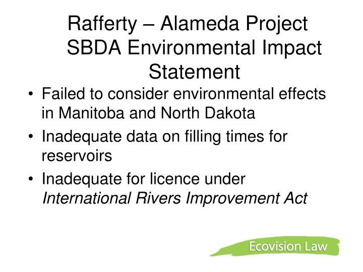 Rafferty – Alameda Project