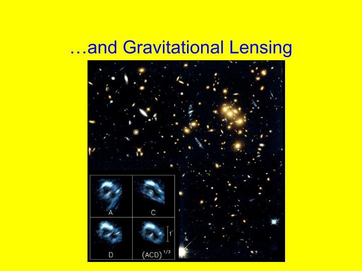 …and Gravitational Lensing
