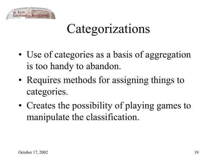 Categorizations