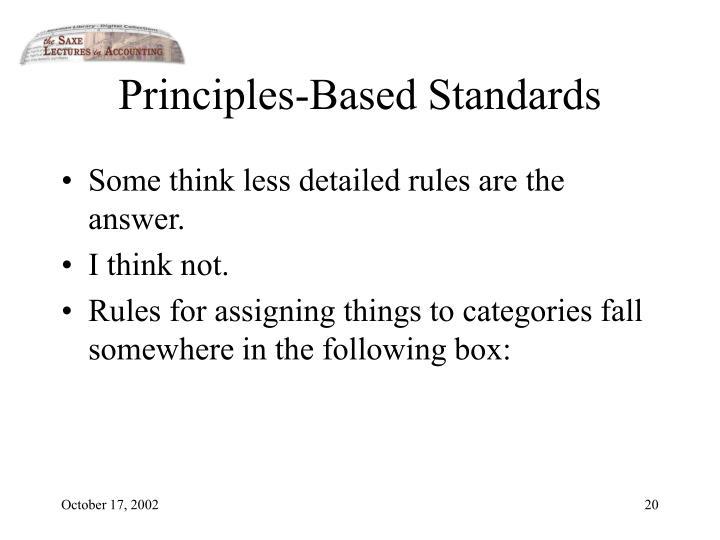 Principles-Based Standards