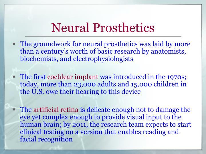 Neural Prosthetics