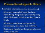 peranan knowledgeable others