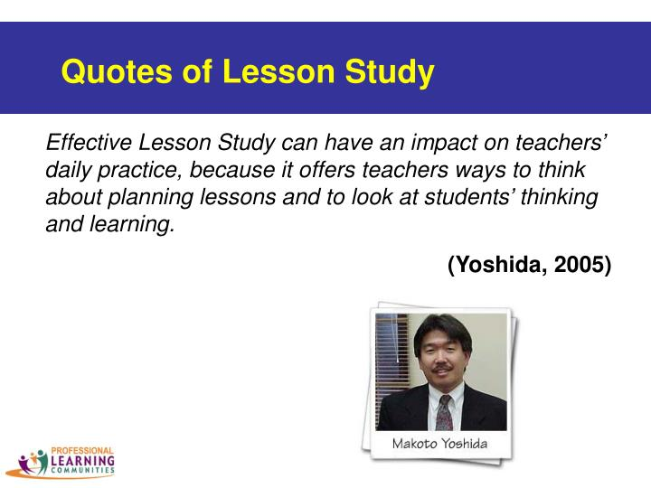 Quotes of Lesson Study