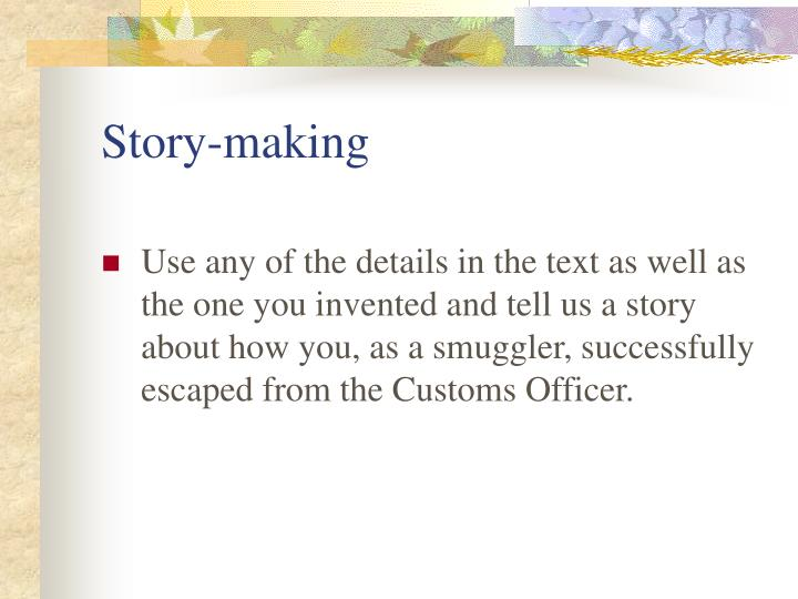 Story-making