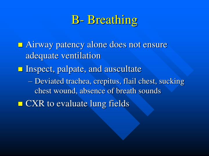 B- Breathing