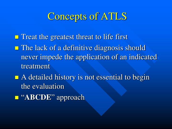 Concepts of ATLS