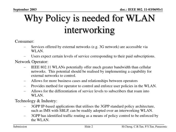 Why policy is needed for wlan interworking
