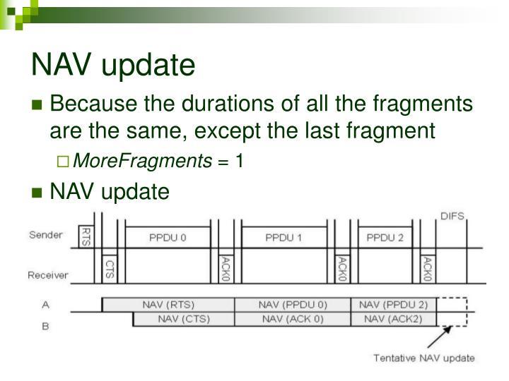 NAV update