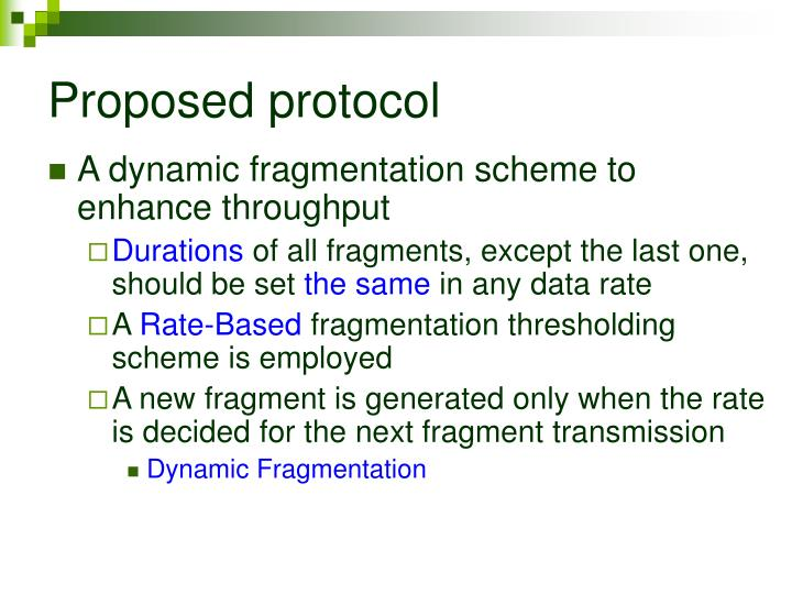 Proposed protocol