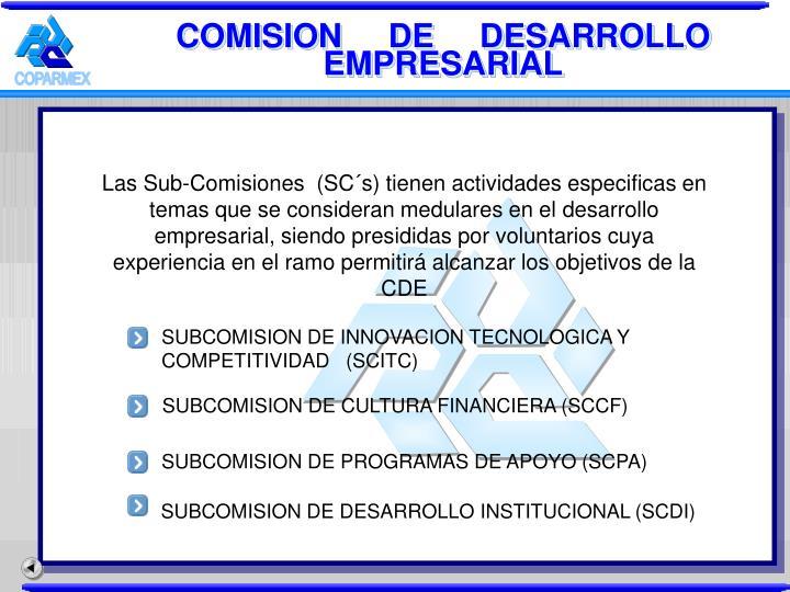 SUBCOMISION DE PROGRAMAS DE APOYO (SCPA)