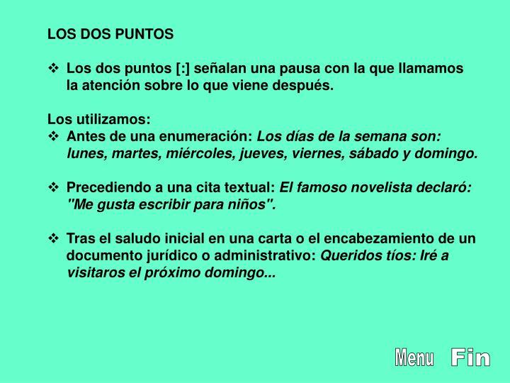 LOS DOS PUNTOS