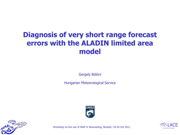 Diagnosis of very short range forecast errors with the ALADIN limited area model