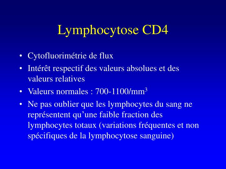Lymphocytose CD4