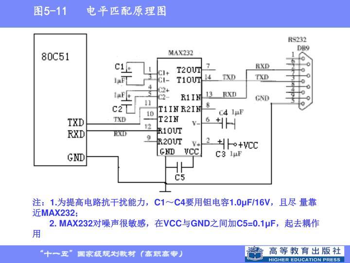 图5-11   电平匹配原理图