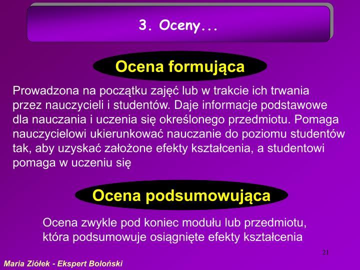 3. Oceny...