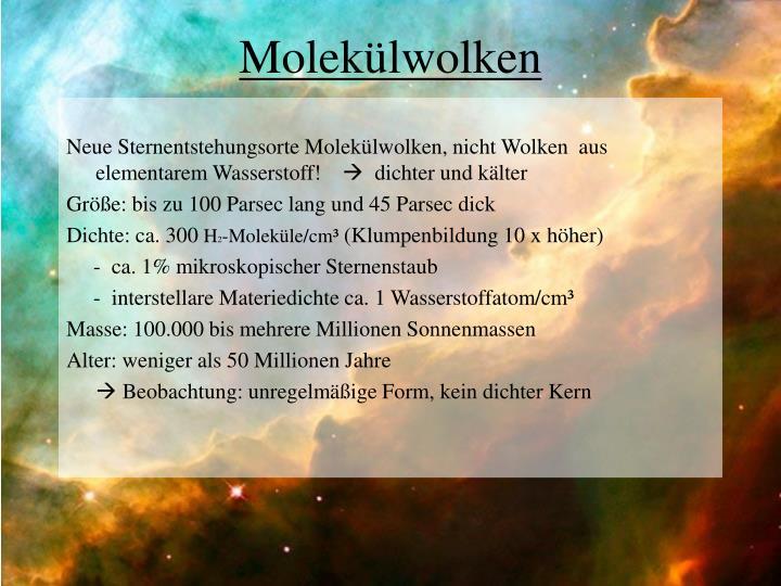 Molekülwolken