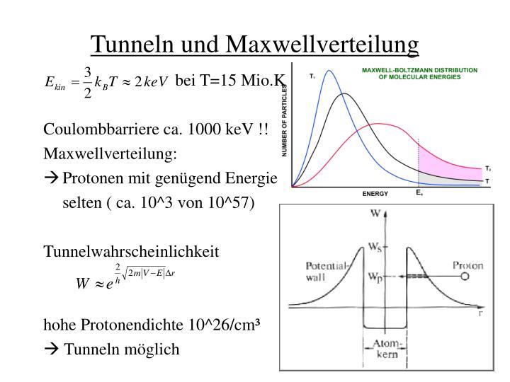Tunneln und Maxwellverteilung