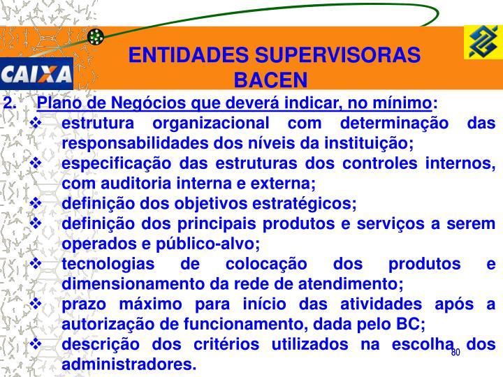 ENTIDADES SUPERVISORAS