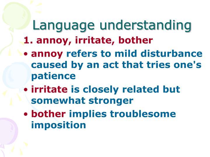 Language understanding