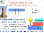 beyond science silos service oriented architecture