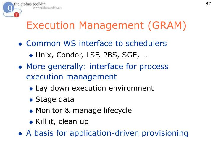 Execution Management (GRAM)
