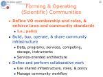forming operating scientific communities1
