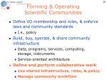 forming operating scientific communities3