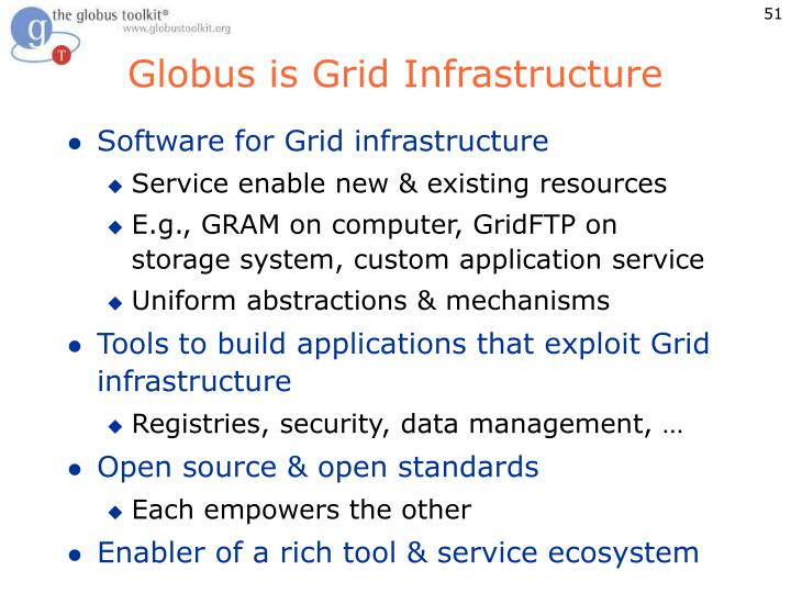 Globus is Grid Infrastructure