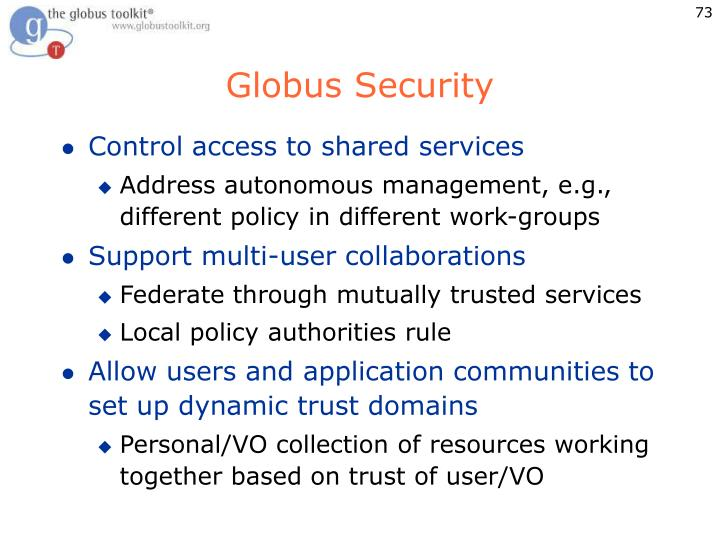 Globus Security